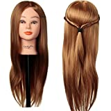 übungskopf friseur LuckyFine 24'' synthetische haare / frisierkopf / frisierkopf mit langen haaren...