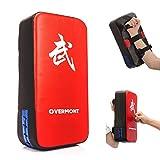 Overmont PU Leder Schlagpolster Schlagkissen Kickschild Boxsack für Kickboxen Thaiboxen Karate UFC...