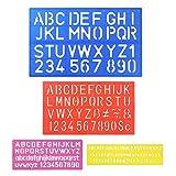 biging 4Stück Buchstabe Schablone Alphabet Schablonen Buchstaben Craft Lineal Kunststoff Deko...