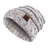 Strickmütze, Moliker Unisex Winter Warm Slouchy Wolle Hut Schädelmütze zum Frau & Männer (C9001)