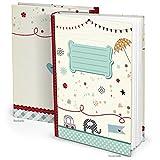 Blau türkis XXL Babytagebuch ELEFANT AUTO Junge Mädchen Baby Tagebuch Erstes Jahr Buch Babybuch...