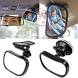KOBWA Auto Baby Spiegel Einstellbare Rücksitzspiegel für Babys Im Reboard Kindersitz mit...