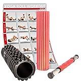 POWRX 3 in 1 Fazien Set inkl. Workout | Faszienrolle für Reflexzonen + Massagerolle zur...