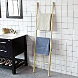 SoBuy® FRG187-N Freistehende Handtuchleiter Handtuchständer Handtuchhalter Badregal mit...