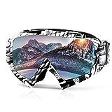 Skibrille,Snowboardbrille Motorrad Goggle Motocross Wind Staubschutz Fliegerbrille Schneebrille...