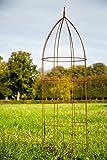 Rankgerüst Ø: 60cm, Rost, H: 200cm Blumenhilfe Obelisk Rankgitter