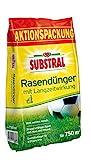 Substral Rasendünger, mit Langzeitwirkung, 100 Tage Langzeitdüngung, staubfreies Granulat mit...