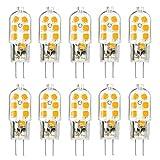 KINGSO 10 Pack G4 LED Leuchtmittel Warmweiß 3W 250lm Ersatz für 25W Halogenlampen 12V AC/DC,...