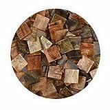 Creleo 790325 Mosaiksteine, Glitter Mix, 45 g, 10 x 10 mm, 190 Stück, braun