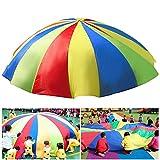 HTIANC Bunt Schwungtuch/ Game Schwungtücher/Sport Fallschirm Regenbogen Parachute für Kinder und...
