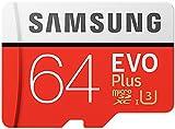 Samsung EVO Plus Micro SDXC 64GB  bis zu 100MB/s, Class 10 U3 Speicherkarte (inkl. SD Adapter)...
