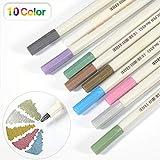PuTwo Metallic Marker Pens Satz von 10 Farben für Kartenherstellung Fotoalbum Gebrauch auf...