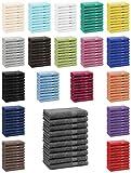 Betz 10er Pack Seiftücher Set Seiflappen 100% Baumwolle Größe 30x30 cm Handtuch Premium Farbe rot