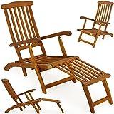 Hartholz Deckchair Sonnenliege Liegestuhl Holz Liege Stuhl Gartenmöbel Relaxliege