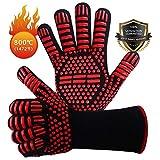 Win.Max Grillhandschuhe,Ofenhandschuhe BBQ Kochenhandschuhe Backhandschuhe Hitzefeste Handschuhe...