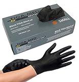 Nitrilhandschuhe puderfrei schwarz black Tiga 100 Stück Größe: Medium Einmalhandschuhe Nitril...