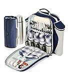 Greenfield Collection Deluxe-Picknick-Rucksack für 4 Personen, mit passender Decke
