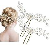 Miya 1 paar MEGA Glamour Braut Kamm Haarnadel Steckkamm mit wunderschöner Blumen Blüte,...