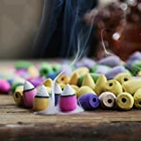 100 pcs Rückfluss Räucherkegel natur Smoke Innen Aromatherapie ROSE Lavendel Jasmin gemischt...