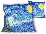 Zierkissen Starry Night Vincent Van Gogh Kissen Kopfkissen Polster pillow cushion coussin oreiller...