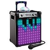 ION Audio Party Rocker Max - 100W Akkubetriebener Blutooth Lautsprecher mit Lichtkuppel,...