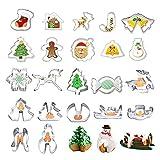 Habier 25-Teiliges Weihnachtsausstechformen Set aus Edelstahl, Fondant Ausstechformen Ausstecher...