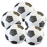 KESOTO 8 Zoll Lampions Fußball Set, 5 Stück Hängedekoration für Weltmeisterschaft Party (20,3...