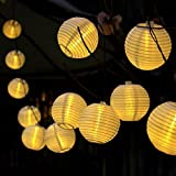 Gresonic 20er LED Lichterkette Lampion/Laternen Deko für Garten, Weihnachten, Party, Hochzeit,...