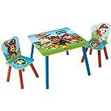 Kindertisch Zwei Stühle PawPatrol Tisch Stuhl Set Sitzgruppe Kinder Spieltisch Kinderzimmer...