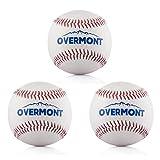Overmont Baseball Training Ball Anfänger Baseballbälle Softball Weiß