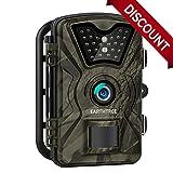 Earthtree Wildkamera, 12MP 1080P Full HD Jagdkamera Low Glow Infrarot 20m Nachtsicht...