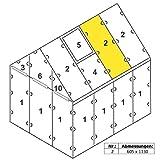 Zelsius - 4 mm Hohlkammerstegplatte '#2' (113 x 60,5 x 0,4 cm) für Gewächshaus, Garten Treibhaus,...