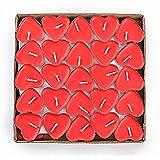 Doitsa Tealight Heart 50 Stück Set Herz Kerzen Romantische Ehe Kerze Rot