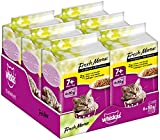 Whiskas Fresh Menue 7+ Senior Katzenfutter Geflügelauswahl in Sauce, 72 Beutel (12 x 6 x 50 g)