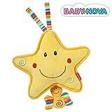 Baby-Nova Spieluhr Stern, Einschlafhilfe für Babys, Musikspieluhr Schlaf Kindlein schlaf,...