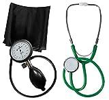 Blutdruckmessgerät Oberarm Profi Tiga Pro 1 Neuware Garantie K 1 + Stethoskop Flachkopf Grün...