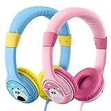 2 Stück: Blau & Rosa - Mpow Kopfhörer Kinder, Kopfhörer für Kinder mit 85dB Lautstärke...