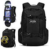 40L Basketball Fußball Rucksack Skateboard Snowboard Ball Rucksack Komplettboard Backpack mit USB...