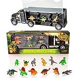 Dinosaurier Transporter Truck & 12 Spielzeug Dinosaurier Figuren Spielset - Jurassic Dino World Set