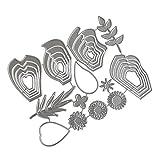 Y56 Silber Farbe DIY Handwerk Neue Blume Herz Metall Prägen Stanzschablone Prägeschablonen...
