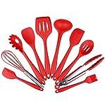 Küchenhelfer Set - Swify 10 Stück Premium Silikon Küchen Utensilien Set: 2 * Silikon Spachteln, 1...