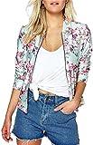 Eudolah Damen Blazer Strickjacke sweatshirt mit Reissverschluss streetwear Fruehling Rosa Gr.L
