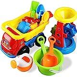 PowerLead Strandspielzeug, 14-teiliges Set, Sandspielzeug Set mit Werkzeugen und Tierformen, 2-Rad...