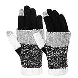Vbiger Winter Handschuhe Warme Handschuhe Baumwolle Damen Handschuhe Strick Handschuhe...