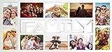 Empireposter - Collage Bilderrahmen Family - Kunststoff weiss Multishot - Größe (cm), ca. 69x32 -...