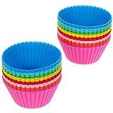 Anpro 32 Muffinformen set Backform Cupcake Muffinförmchen in 8 Farben aus hochwertigem, Silikon...