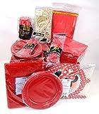 Amscan Party Set rot, 122-teilig, Kinderparty, Geburtstag, Partyausstattung