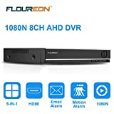 FLOUREON 8CH AHD NVR 1080N HDMI DVR Videorecorder 5 IN 1 TVI PTZ H.264 P2P CCTV Sicherheit...