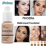 PHOERA 30ml Concealer Cover, Flüssigmatt Full Coverage Concealer Cover Shadows Skin Care Foundation...