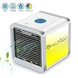 Luftkühler Mini Klimaanlage Ventilator Air Cooler mit Wasserkühlung Zimmer Verdunstungs Mobil...